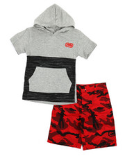 Sets - 2Pc Hooded Tee & Shorts Set (4-7)-2349157