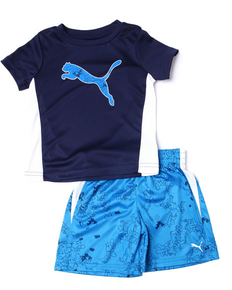 Puma - Poly Performance S/S Tee + Short Set (2T-4T)