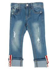 La Galleria - Crop Jeans W/Cuff Taping & Pearls (4-6X)-2356318