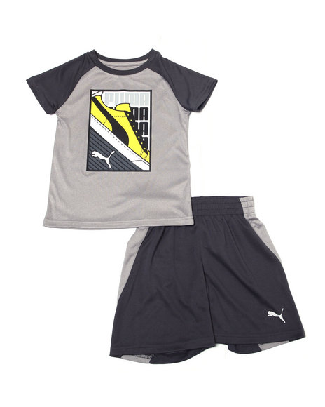 Puma - Poly Performance S/S Tee + Short Set (4-7)