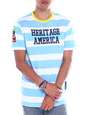 Heritage America - STRIPE EMBROIDERED LOGO TEE-2358136