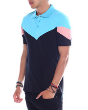 Jordan Craig - BLACK CORAL COLORBLOCK POLO-2358177