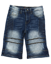 Southpole - Stretch Zipped Biker Denim Shorts (8-20)-2356345