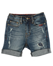 SMITH'S AMERICAN - Distressed Denim Shorts W/ Rolled Up Hem (2T-4T)-2356334