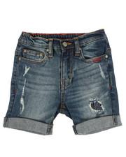Shorts - Distressed Denim Shorts W/ Rolled Up Hem (2T-4T)-2356334