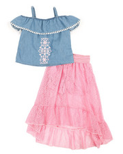 Dollhouse - 2Pc Maxi Skirt Set (7-16)-2345697