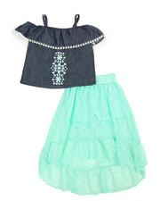 Dollhouse - 2Pc Maxi Skirt Set (7-16)-2345693