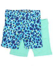 Bottoms - 2 PK Blue Leopard Print Shorts (4-6X)-2357179