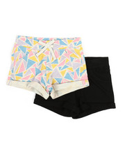 Bottoms - 2 PK Geo Triangles Shorts (4-6X)-2357262