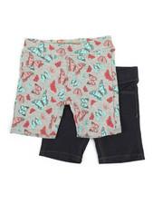Bottoms - 2 PK Butterfly Games Print Shorts (4-6X)-2357257