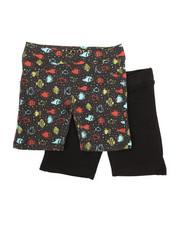Bottoms - 2 PK Fish Shapes Shorts (4-6X)-2357252