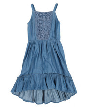 BCBGirls - Denim Lace Insert Dress (7-16)-2357647