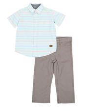 Sets - Poplin Stripe Shirt & Twill Pants Set (2T-4T)-2355840