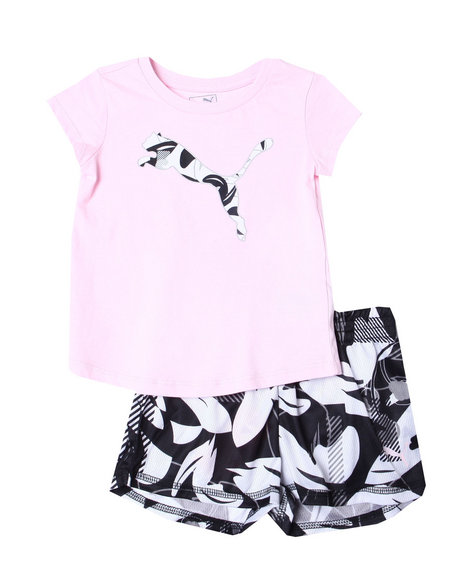 Puma - S/S Tee & Capri Leggings Set (2T-4T)
