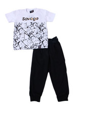 Phat Farm - S/S Crew Neck Jersey & Knit Jogger Pant (2T-4T)-2359932