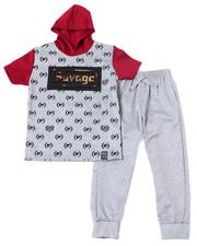 Sets - S/S Neoprene Hoodie & Jogger Pants (2T-4T)-2359665