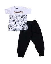 Phat Farm - S/S Crew Neck Jersey & Knit Jogger Pant (Infant)-2359928