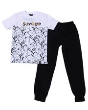 Sets - S/S Crew Neck Jersey & Knit Jogger Pant (8-18)-2359820