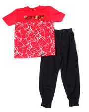 Sets - S/S Crew Neck Jersey & Knit Jogger Pant (8-18)-2359824