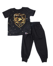 Phat Farm - S/S Crew Neck Jersey & Knit Jogger Pant (2T-4T)-2359903