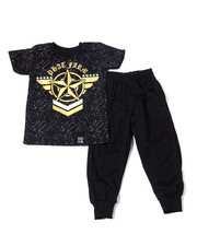 Phat Farm - S/S Crew Neck Jersey & Knit Jogger Pant (2T-4T)-2359879