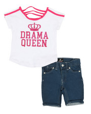 Dollhouse - 2 Pc Tee & Shorts Set (4-6X)-2357314