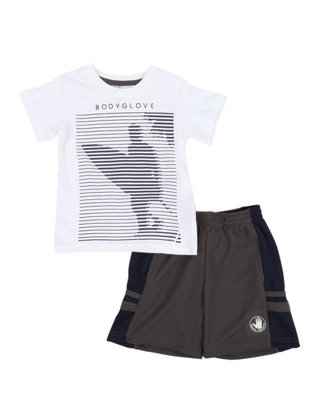 BODY GLOVE - 2 Pc Tee & Shorts Set (2T-4T)