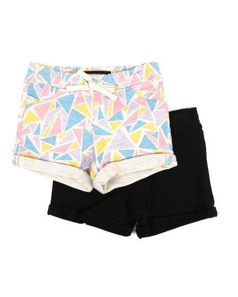 Vigoss Jeans - 2 PK Geo Triangles Shorts (2T-4T)