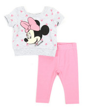 Disney/Sesame Street - 2 Pc Minnie Top & Leggings Set (Infant)-2357298