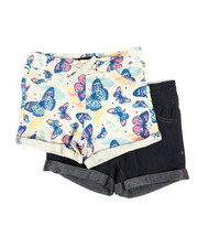 Bottoms - 2 PK Butterfly Haven Shorts (2T-4T)-2357891