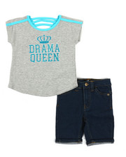 Dollhouse - 2 Pc Tee & Shorts Set (4-6X)-2357333