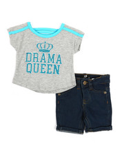 Dollhouse - 2 Pc Tee & Shorts Set (Infant)-2357321