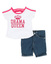 Dollhouse - 2 Pc Tee & Shorts Set (2T-4T)-2357306