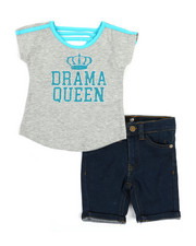 Dollhouse - 2 Pc Tee & Shorts Set (2T-4T)-2357329