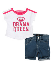 Dollhouse - 2 Pc Tee & Shorts Set (Infant)-2357310