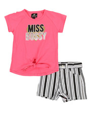 Dollhouse - 2 Pc Tee & Shorts Set (4-6X)-2357453