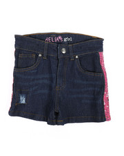 Shorts - Side Pink Sequins Taping Shorts (7-16)-2358492