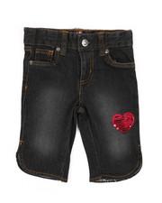 Shorts - Bermuda Denim Shorts W/ Sequins (4-6X)-2358426