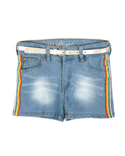 Delia's Girl - Side Rainbow Taping Shorts (7-16)-2358460