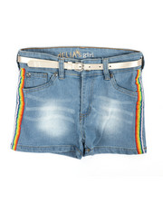 Delia's Girl - Side Rainbow Taping Shorts (4-6X)-2358455
