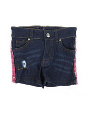Delia's Girl - Side Pink Sequins Taping Shorts (4-6X)-2358499