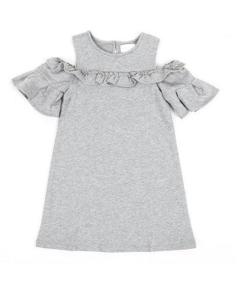 BCBGirls - Cold Shoulder Ruffle Dress (4-6X)
