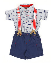 Duck Duck Goose - Nautical Print 3Pc Pants Set (12-24Mo)-2356028