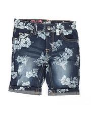 Delia's Girl - Bermuda Denim Shorts W/All Over Print (4-6X)-2358443