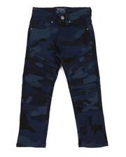 Boys - Twill Moto Pants W/ Camo Print (4-7)-2358617