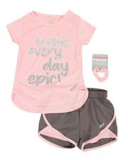 HIND - 2 Pc Mesh Top & Shorts Set (7-16)-2350557