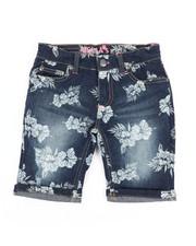 Delia's Girl - Bermuda Denim Shorts W/All Over Print (7-16)-2358436