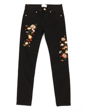 Girls - Denim Embroidery Jeans (7-16)-2358419