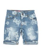 Delia's Girl - Bermuda Denim Shorts W/All Over Print (4-6X)-2358510