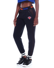 NBA MLB NFL Gear - Knicks Interlock & Mesh Jogger-2355156